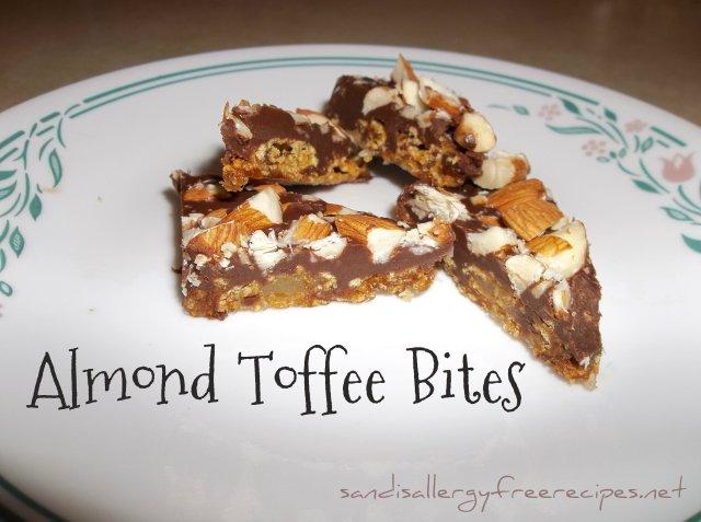 Almond Toffee Bites