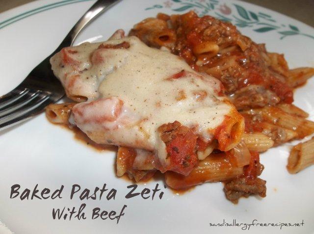Baked Pasta Zeti with Beef