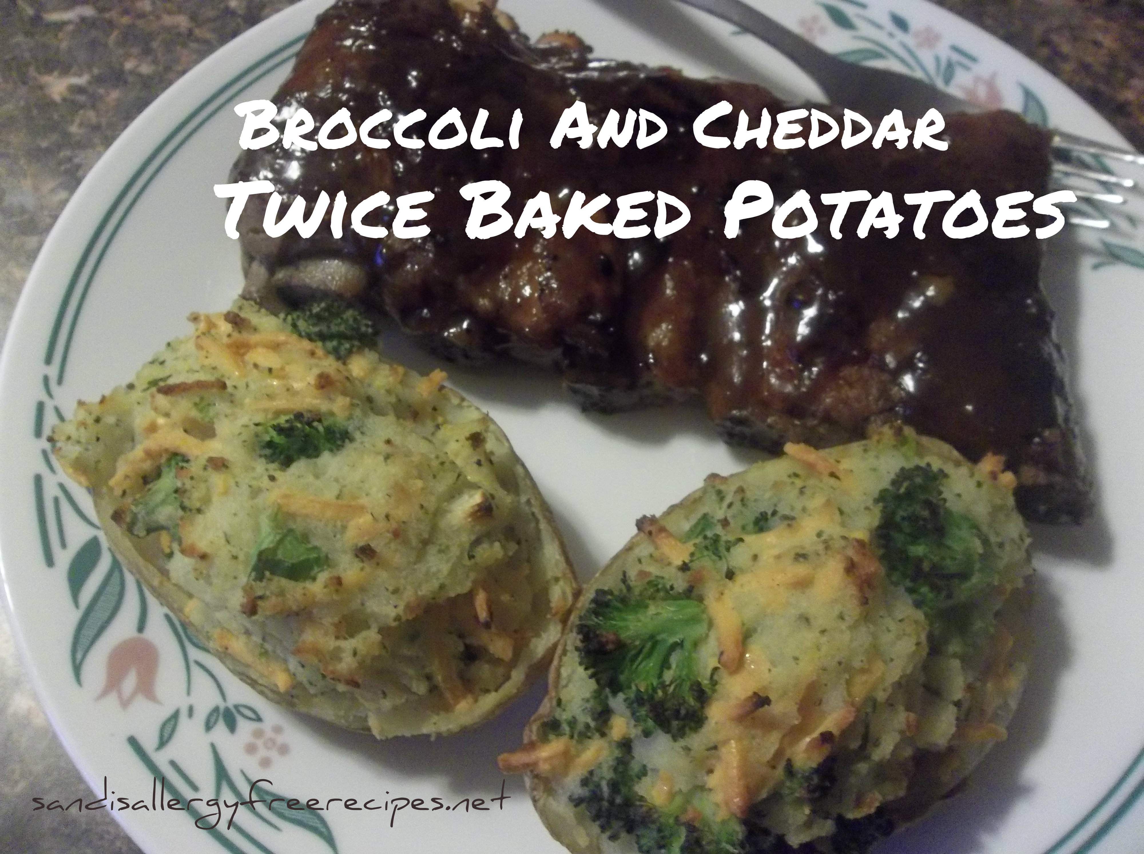 Broccoli And Cheddar Twice Baked Potatoes (Dairy Free ...