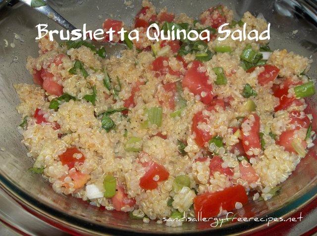 Brushetta Quinoa Salald