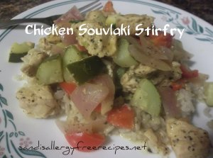 Chicken Souvlaki Stir Fry