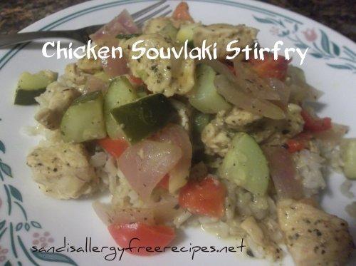 Chicken Souvlaki Stirfry