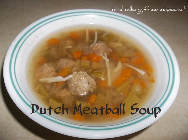 Dutch Meatball Soup (Gluten free)