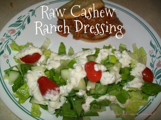 Raw Cashew Ranch Dressing