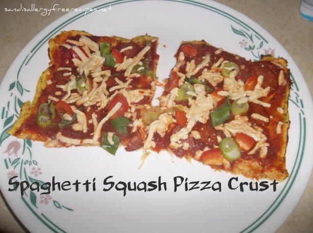 Spaghetti Squah Pizza Crust