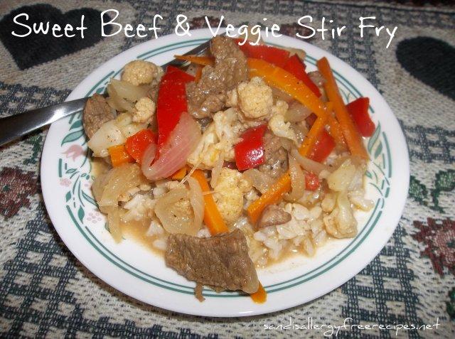 Sweet Beef & Veggie Stir Fry