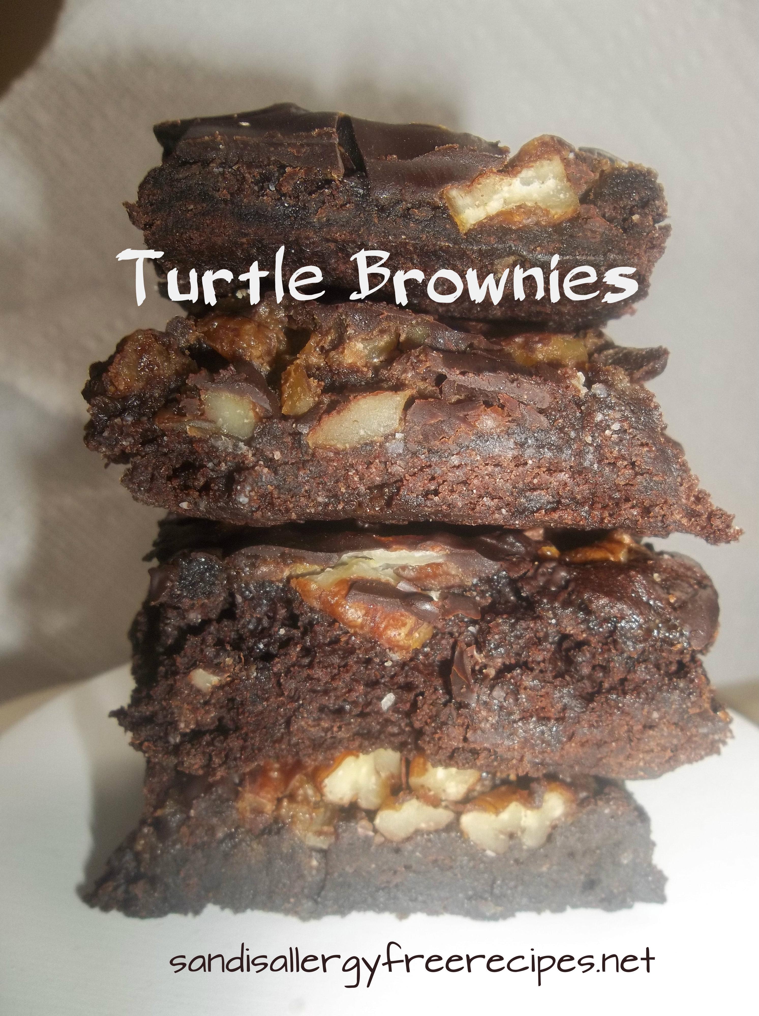 Turtle Brownies (Gluten free/ Dairy free) | SANDI\'S ALLERGY FREE ...