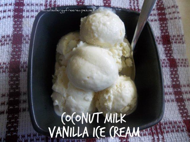 Vanilla Ice Cream (Dairy Free/ Refined Sugar Free/ Gluten Free)
